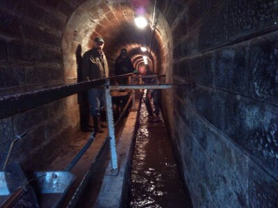 Désensablage du tunnel à Arzviller
