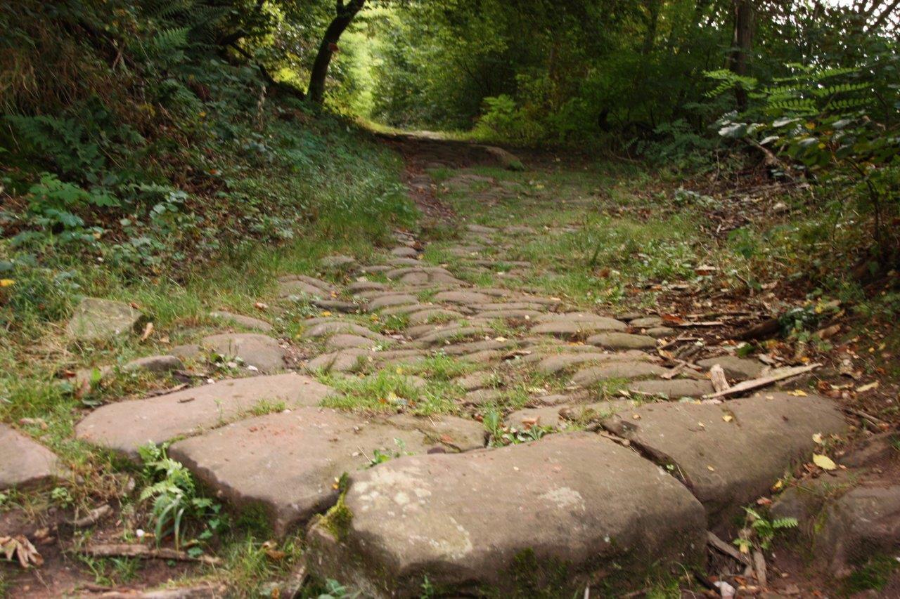 Ancienne route pavée menant à Hultehouse