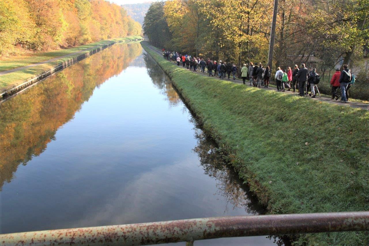Retour le long du canal