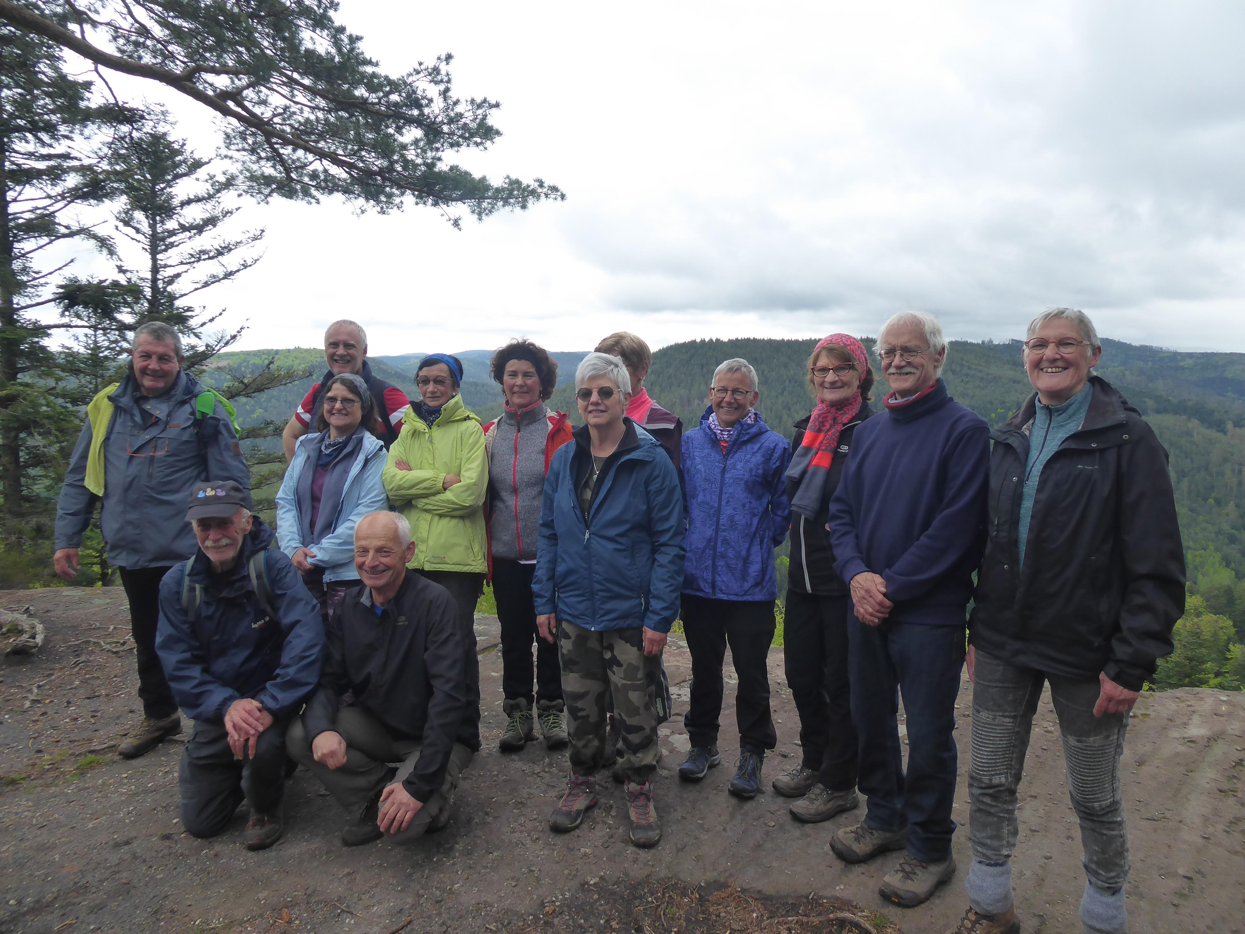 Le groupe à la Belle Roche de St Quirin