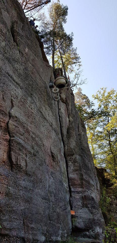 Par la voie des airs au rocher du petit moulin