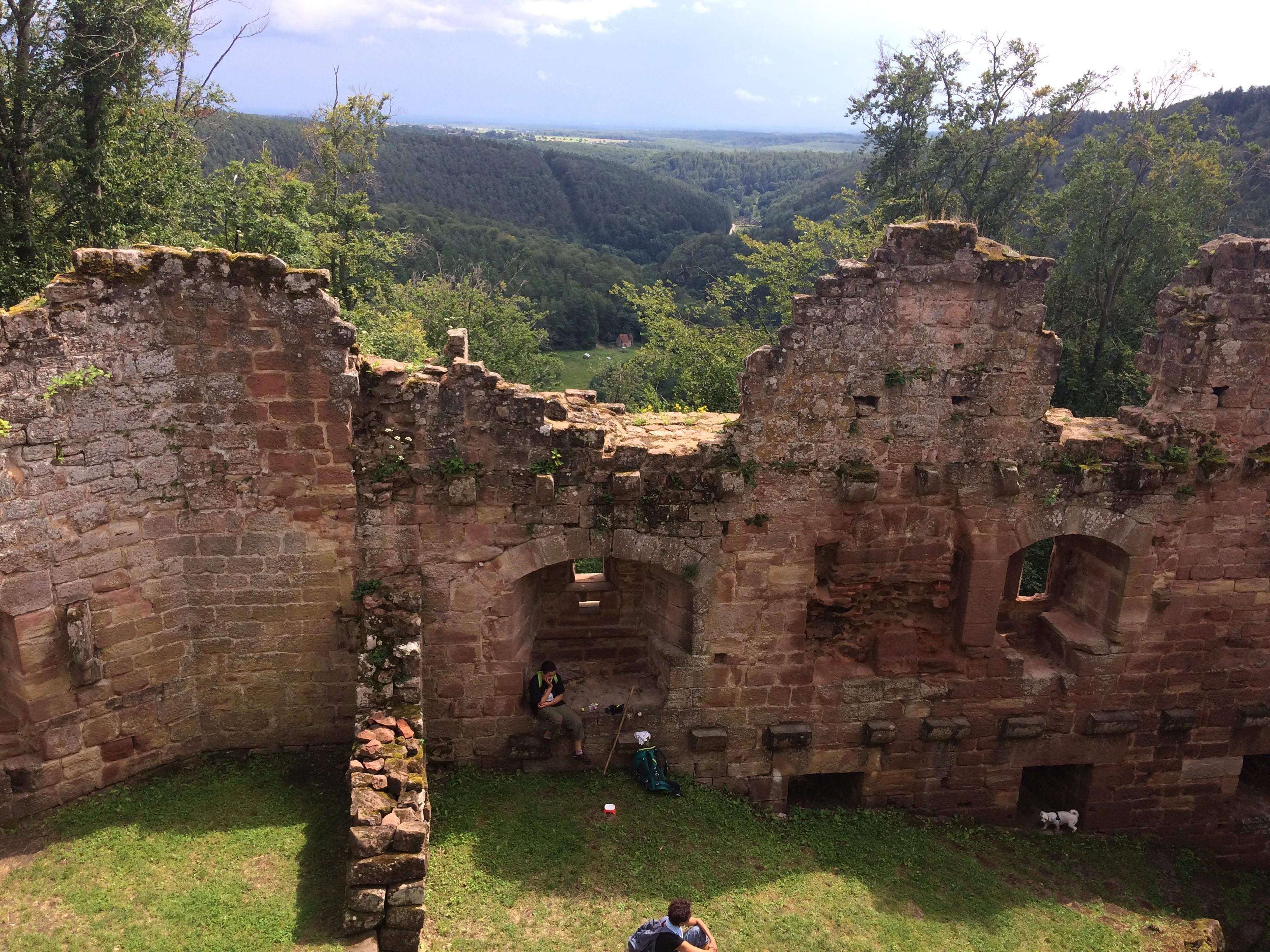 Point de vue panoramique du nouveau Windstein