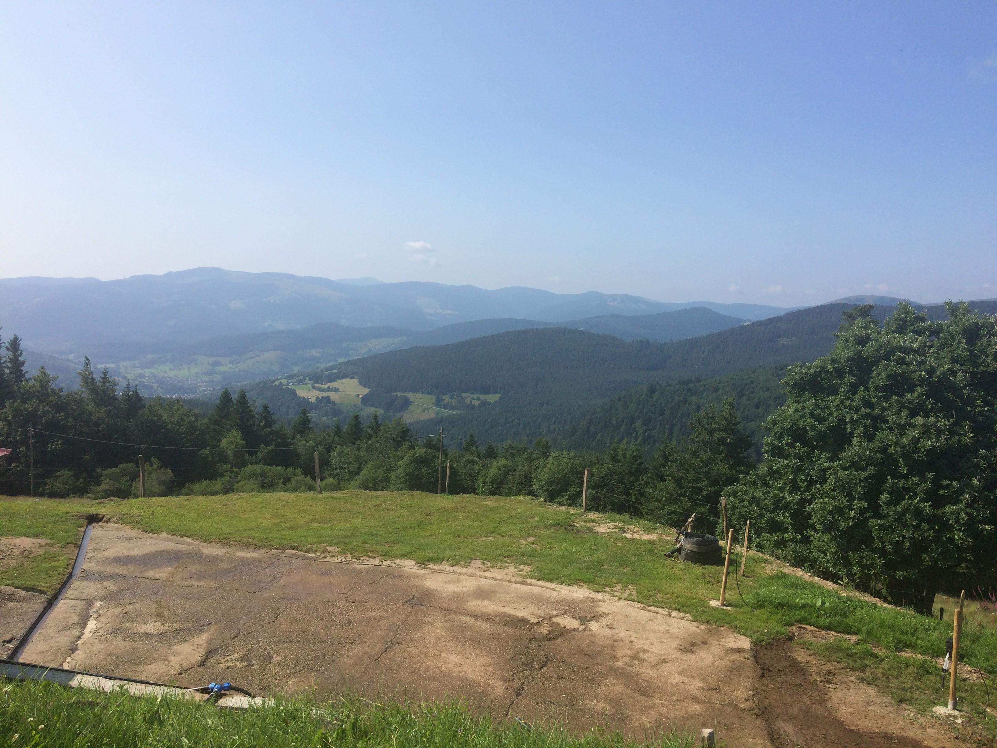 Vue panoramique rando col du Wettstein (guide Dominique)